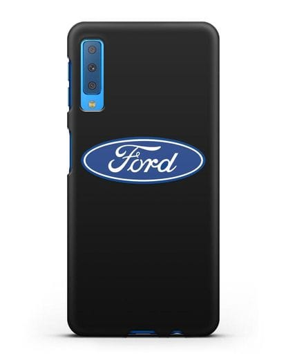 Чехол с логотипом Ford силикон черный для Samsung Galaxy A7 2018 [SM-A750F]