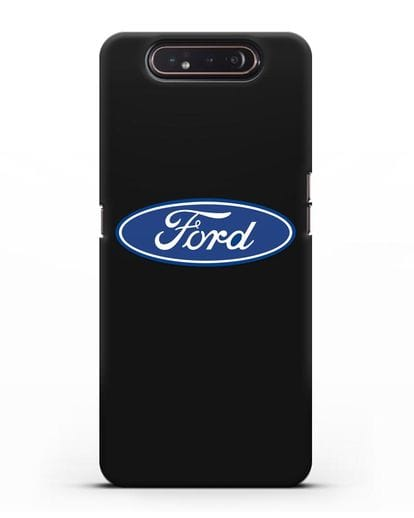 Чехол с логотипом Ford силикон черный для Samsung Galaxy A80 [SM-A805F]