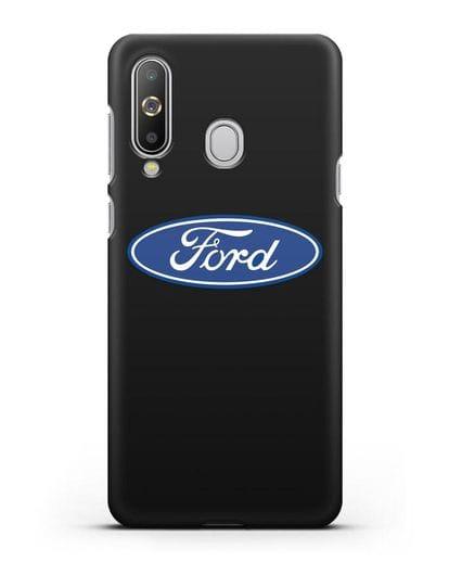 Чехол с логотипом Ford силикон черный для Samsung Galaxy A8s [SM-G8870]