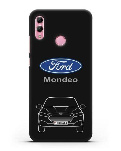 Чехол Ford Mondeo с номерным знаком силикон черный для Honor 10 Lite