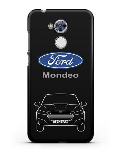 Чехол Ford Mondeo с номерным знаком силикон черный для Honor 6A