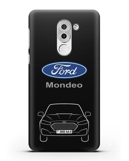 Чехол Ford Mondeo с номерным знаком силикон черный для Honor 6X