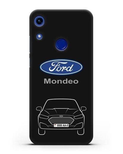 Чехол Ford Mondeo с номерным знаком силикон черный для Honor 8A