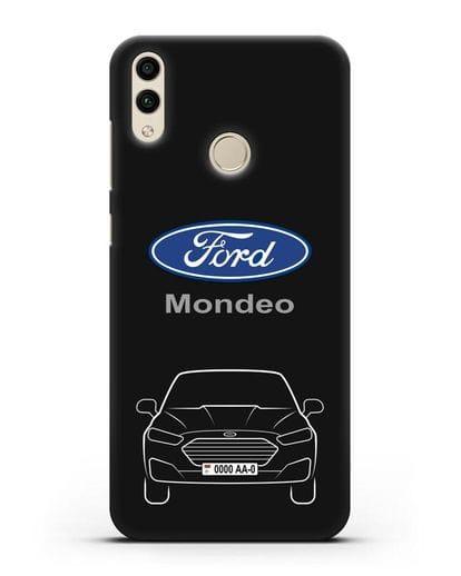 Чехол Ford Mondeo с номерным знаком силикон черный для Honor 8C