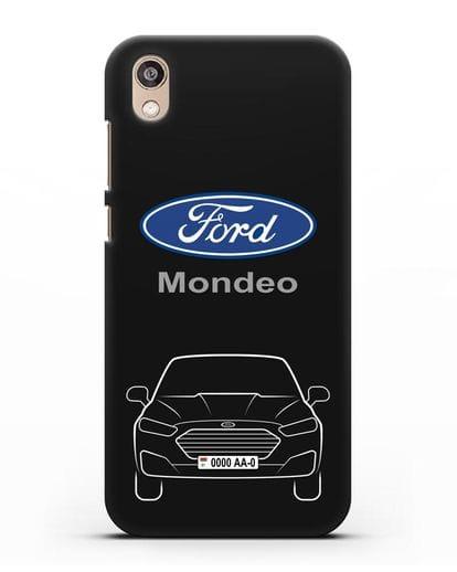 Чехол Ford Mondeo с номерным знаком силикон черный для Honor 8S Prime