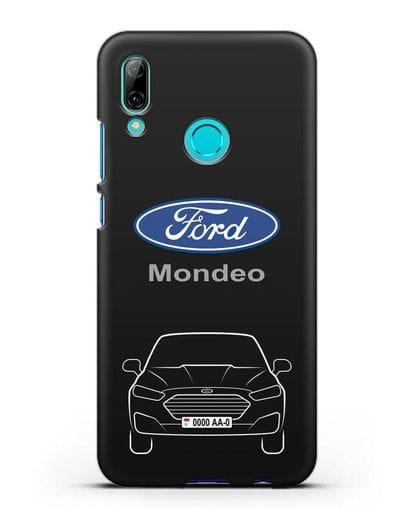 Чехол Ford Mondeo с номерным знаком силикон черный для Huawei P Smart 2019