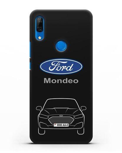Чехол Ford Mondeo с номерным знаком силикон черный для Huawei P Smart Z