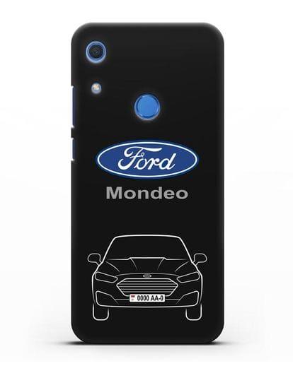 Чехол Ford Mondeo с номерным знаком силикон черный для Huawei Y6s