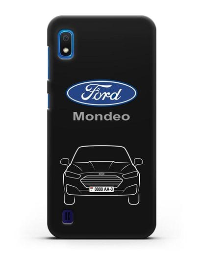 Чехол Ford Mondeo с номерным знаком силикон черный для Samsung Galaxy A10 [SM-A105F]