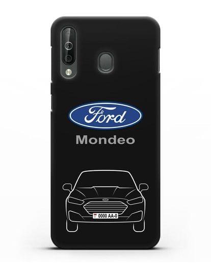 Чехол Ford Mondeo с номерным знаком силикон черный для Samsung Galaxy A40s [SM-A507FN]