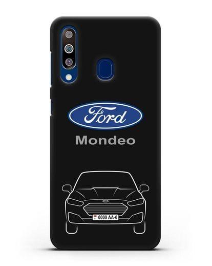Чехол Ford Mondeo с номерным знаком силикон черный для Samsung Galaxy A60 [SM-A606F]