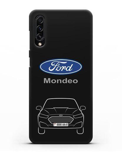 Чехол Ford Mondeo с номерным знаком силикон черный для Samsung Galaxy A70s [SM-A707F]