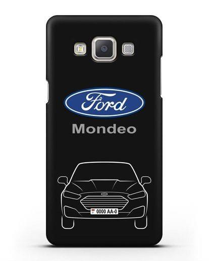 Чехол Ford Mondeo с номерным знаком силикон черный для Samsung Galaxy A7 2015 [SM-A700F]