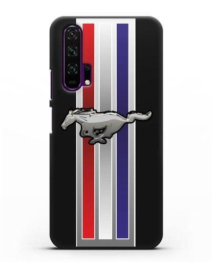Чехол с логотипом Ford Mustang силикон черный для Honor 20 Pro