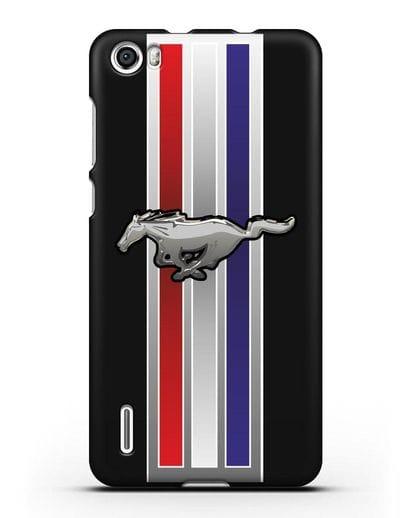 Чехол с логотипом Ford Mustang силикон черный для Honor 6
