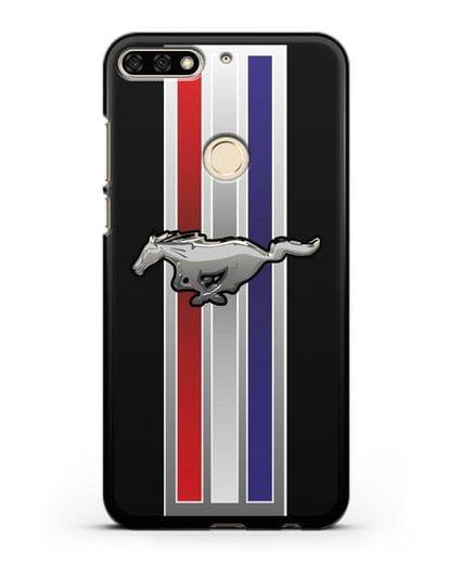 Чехол с логотипом Ford Mustang силикон черный для Honor 7C