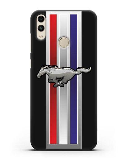 Чехол с логотипом Ford Mustang силикон черный для Honor 8C