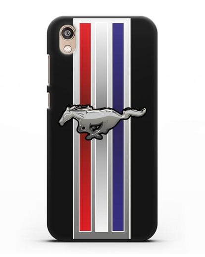 Чехол с логотипом Ford Mustang силикон черный для Honor 8S Prime