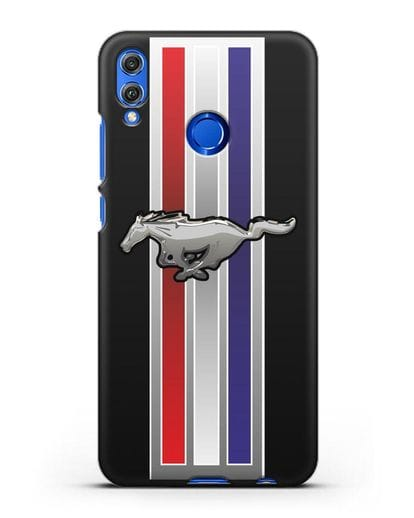 Чехол с логотипом Ford Mustang силикон черный для Honor 8X