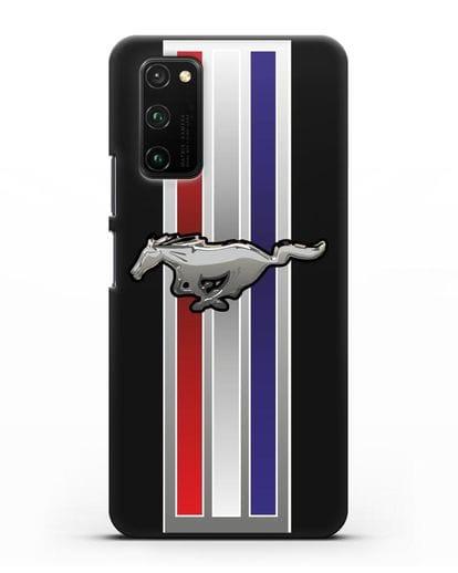 Чехол с логотипом Ford Mustang силикон черный для Honor View 30 Pro