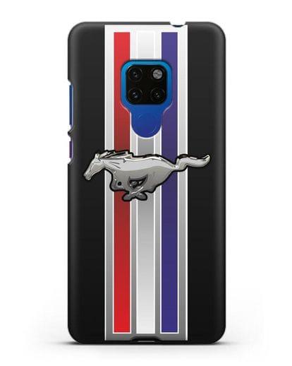 Чехол с логотипом Ford Mustang силикон черный для Huawei Mate 20