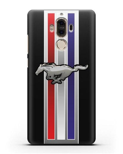 Чехол с логотипом Ford Mustang силикон черный для Huawei Mate 9