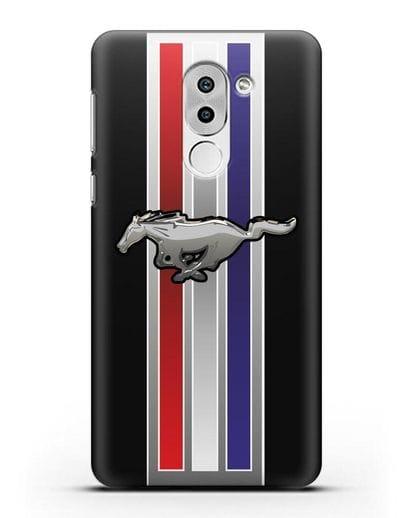 Чехол с логотипом Ford Mustang силикон черный для Huawei Mate 9 Lite