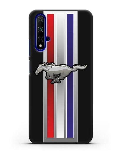 Чехол с логотипом Ford Mustang силикон черный для Huawei Nova 5T