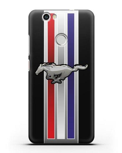 Чехол с логотипом Ford Mustang силикон черный для Huawei Nova