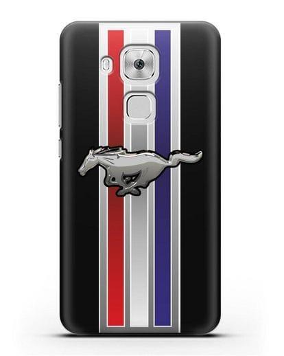 Чехол с логотипом Ford Mustang силикон черный для Huawei Nova Plus