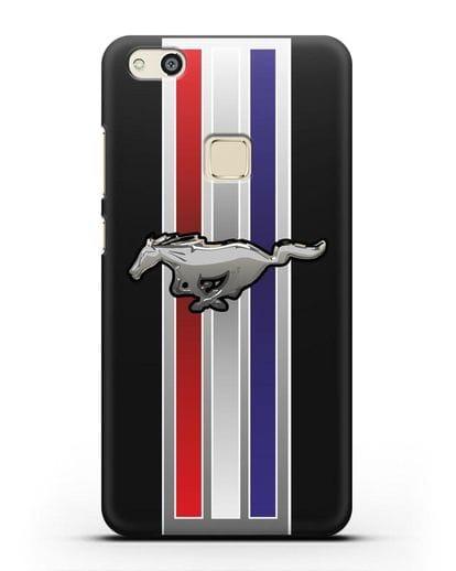 Чехол с логотипом Ford Mustang силикон черный для Huawei P10 Lite