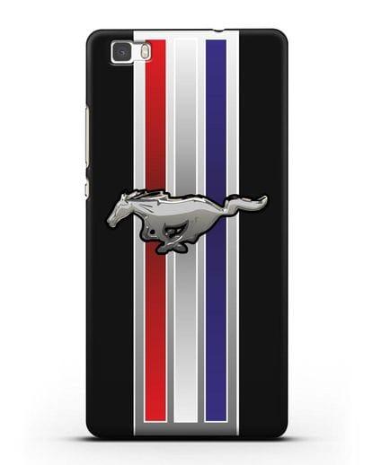 Чехол с логотипом Ford Mustang силикон черный для Huawei P8 Lite