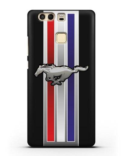 Чехол с логотипом Ford Mustang силикон черный для Huawei P9