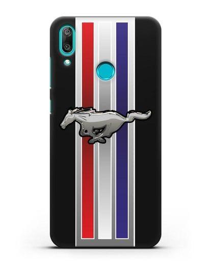 Чехол с логотипом Ford Mustang силикон черный для Huawei Y7 2019