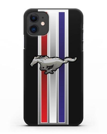 Чехол с логотипом Ford Mustang силикон черный для iPhone 11
