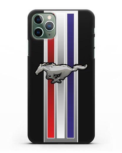 Чехол с логотипом Ford Mustang силикон черный для iPhone 11 Pro Max