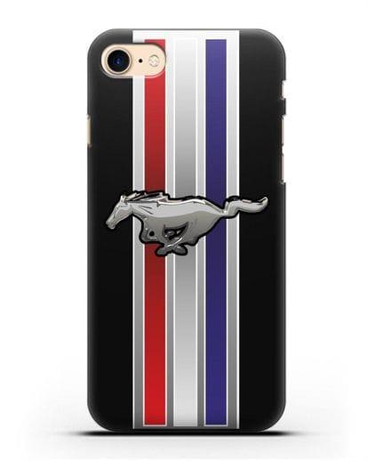 Чехол с логотипом Ford Mustang силикон черный для iPhone 7
