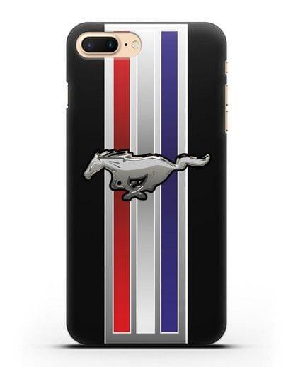 Чехол с логотипом Ford Mustang силикон черный для iPhone 8 Plus