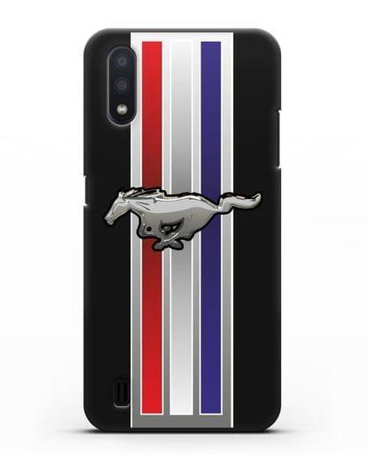 Чехол с логотипом Ford Mustang силикон черный для Samsung Galaxy A01 [SM-A015F]