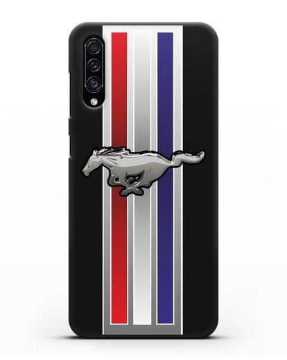 Чехол с логотипом Ford Mustang силикон черный для Samsung Galaxy A30s [SM-A307FN]