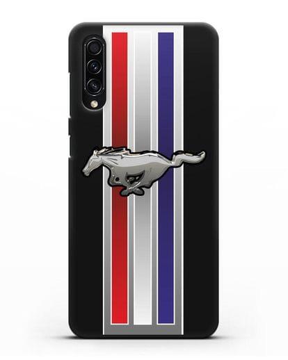 Чехол с логотипом Ford Mustang силикон черный для Samsung Galaxy A50s [SM-F507FN]