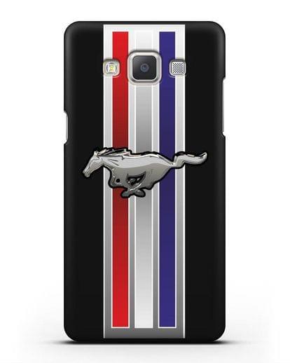 Чехол с логотипом Ford Mustang силикон черный для Samsung Galaxy A7 2015 [SM-A700F]