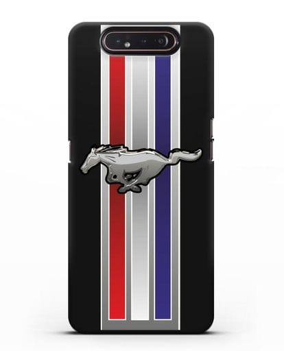Чехол с логотипом Ford Mustang силикон черный для Samsung Galaxy A80 [SM-A805F]