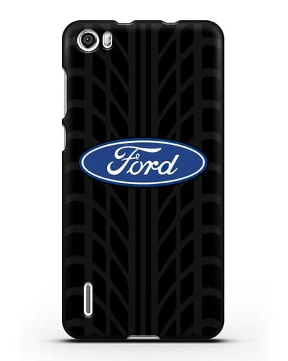 Чехол c эмблемой Ford с протектором шин силикон черный для Honor 6