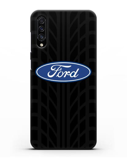 Чехол c эмблемой Ford с протектором шин силикон черный для Samsung Galaxy A30s [SM-A307FN]