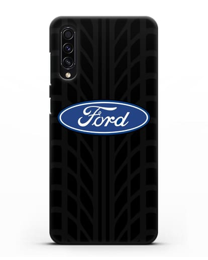 Чехол c эмблемой Ford с протектором шин силикон черный для Samsung Galaxy A50s [SM-F507FN]